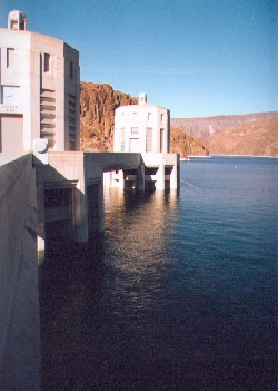 Intake towers at Hoover Dam